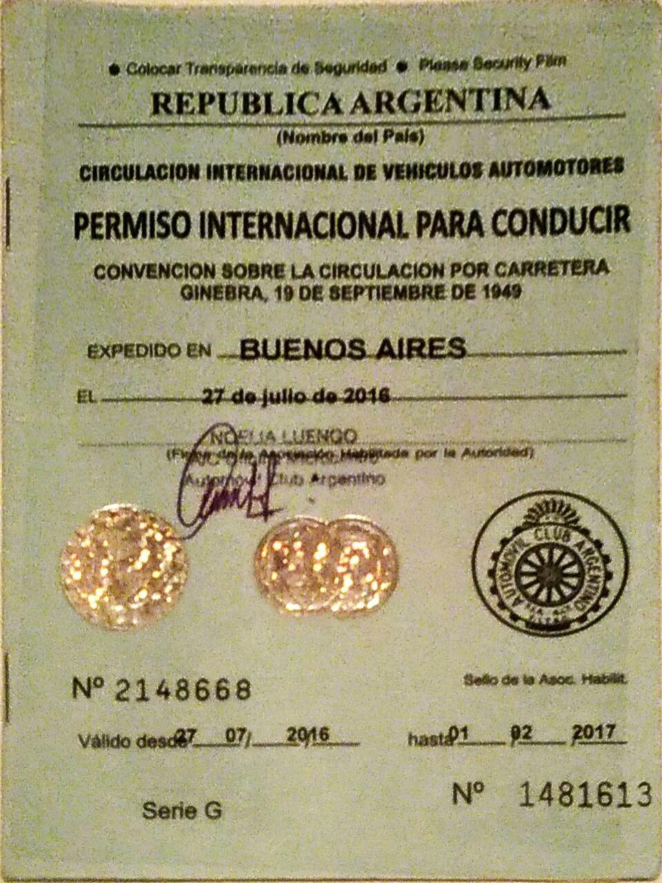 img 5400 - Como tramitar la Licencia de Conducir Internacional 2017