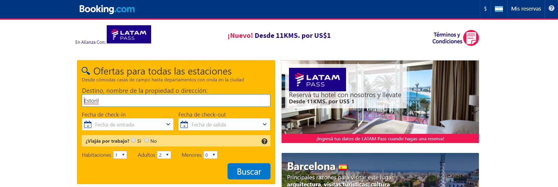 booking - Acumular Millas y Kms con Booking.com - Todas las aerolineas de la promo