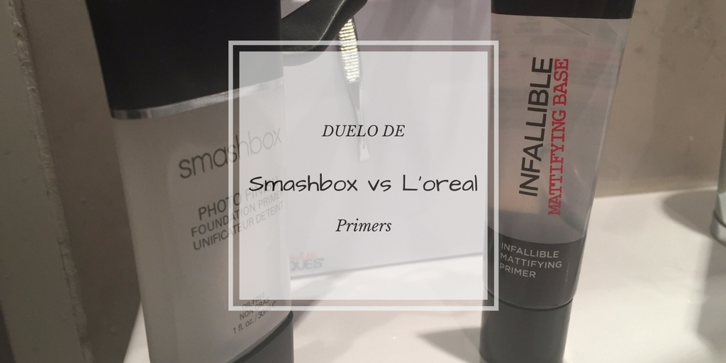 duelo de primers - Duelo de Primers: L'oreal Infallible Mattifying vs Smashbox Photo Finish