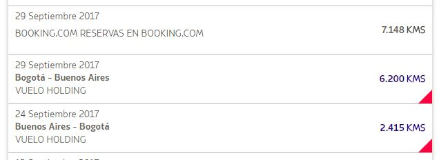 booking - Cuanto tardan en acreditarse los KMS LATAMPASS por reservas en Booking.com