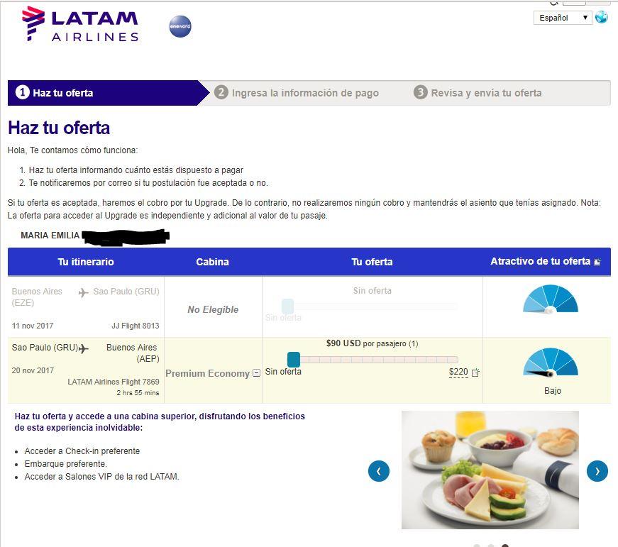 upgrade3 - Como funciona el sistema de subastas para upgrade a Business de LATAM
