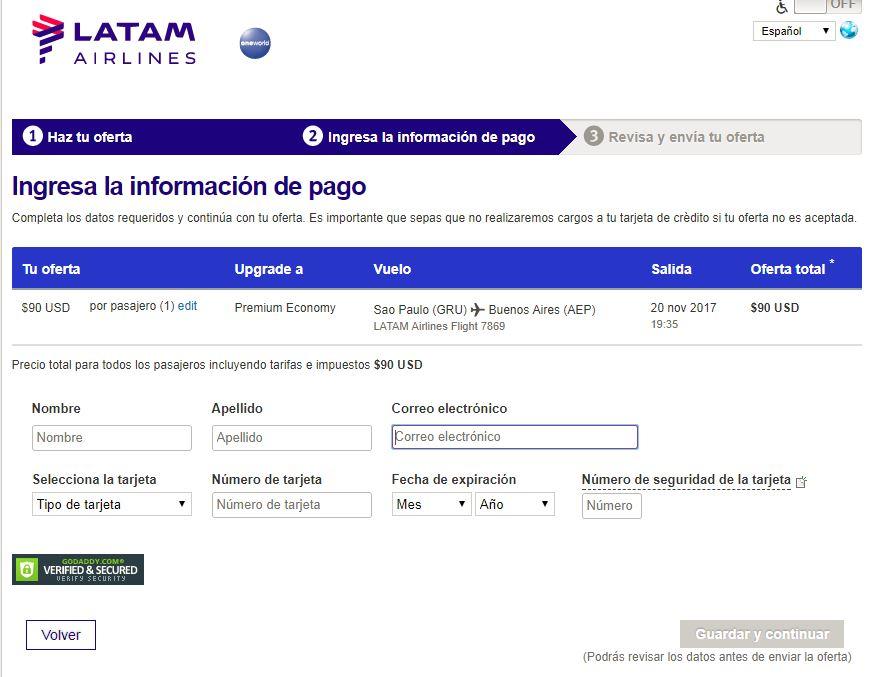 upgrade4 - Como funciona el sistema de subastas para upgrade a Business de LATAM