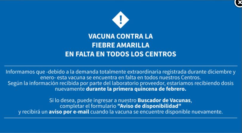 stamboulian - ¿Es necesario darse la vacuna de la fiebre amarilla para ir a Brasil? Año 2018