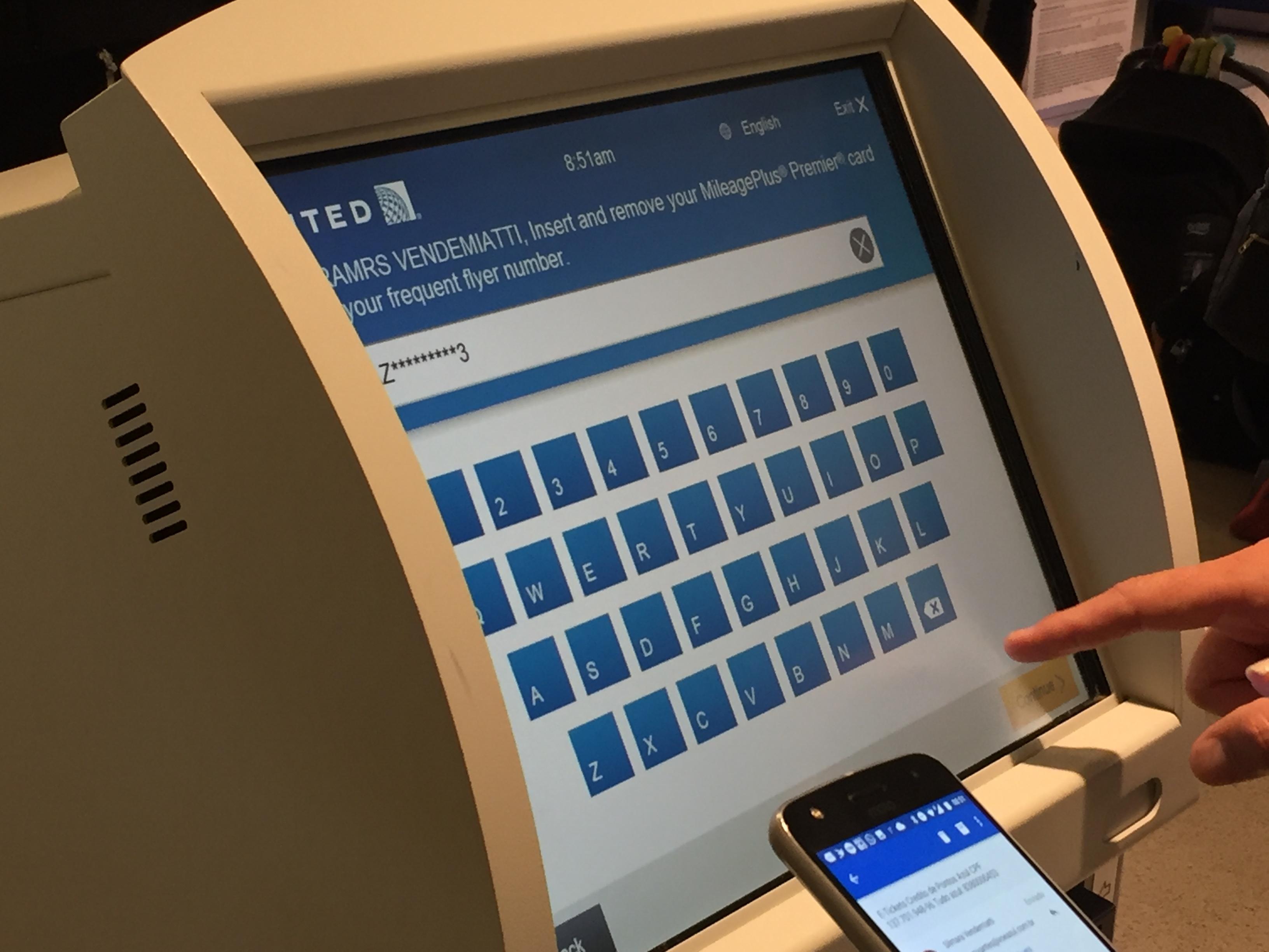 IMG 3570 - Haciendo el check in automático de United en Newark