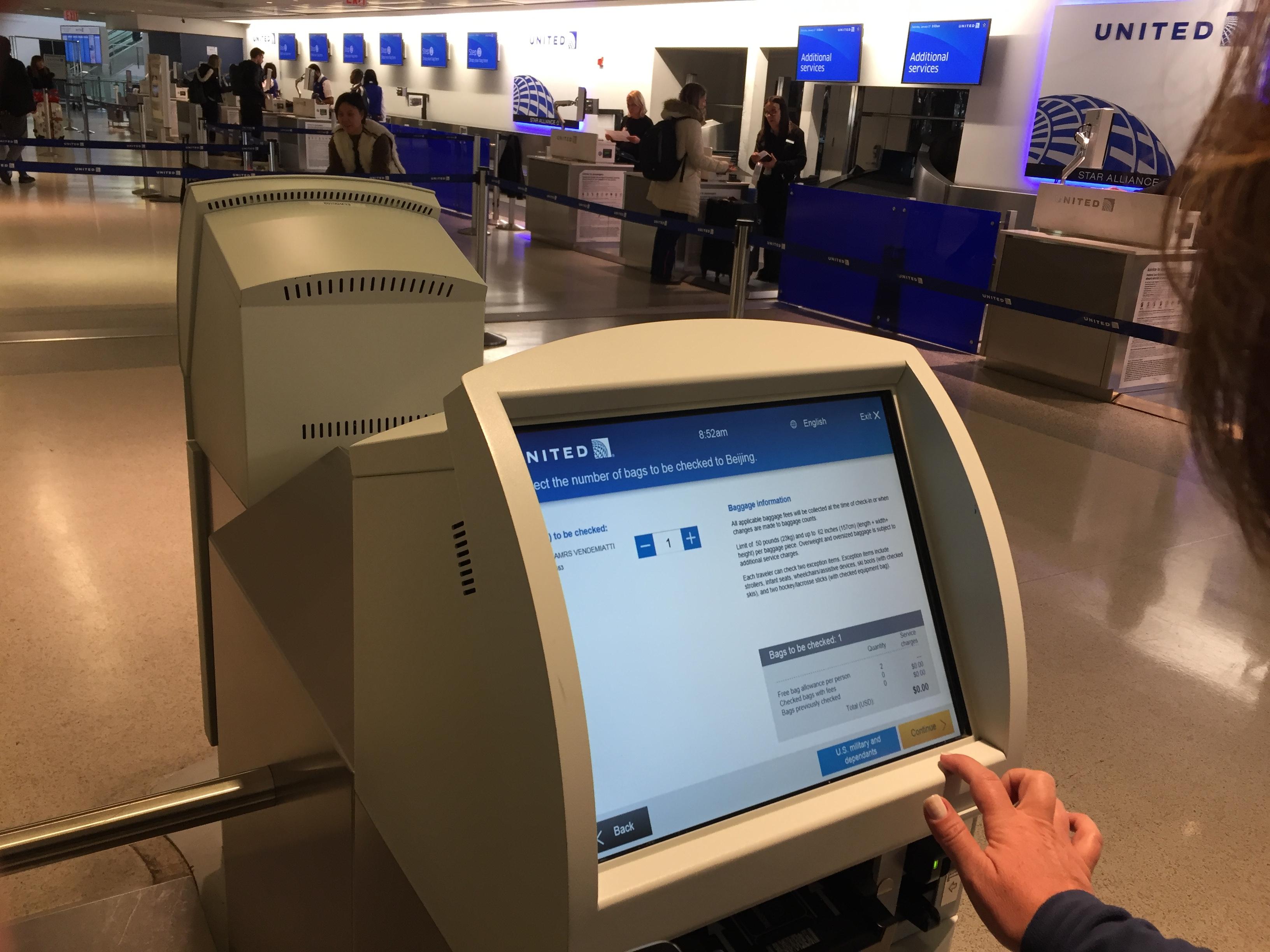 IMG 3574 - Haciendo el check in automático de United en Newark