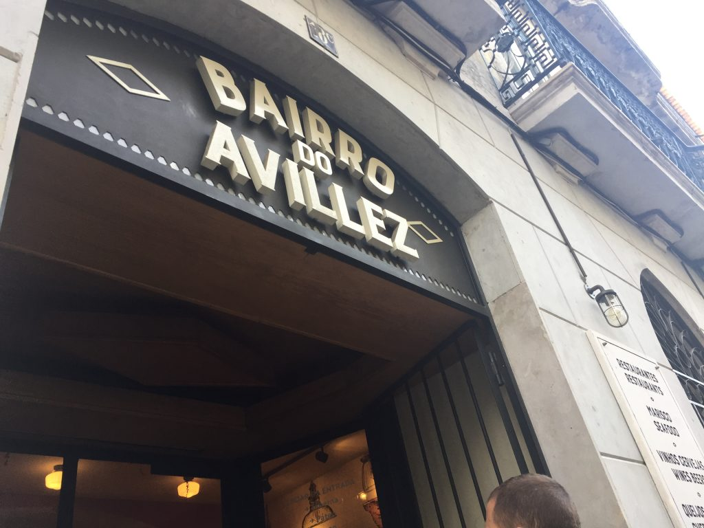 Restuarnte en Lisboa Bairro do Avillez