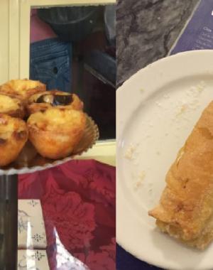 Pasteis de Belem y Travesseiro de Sintra