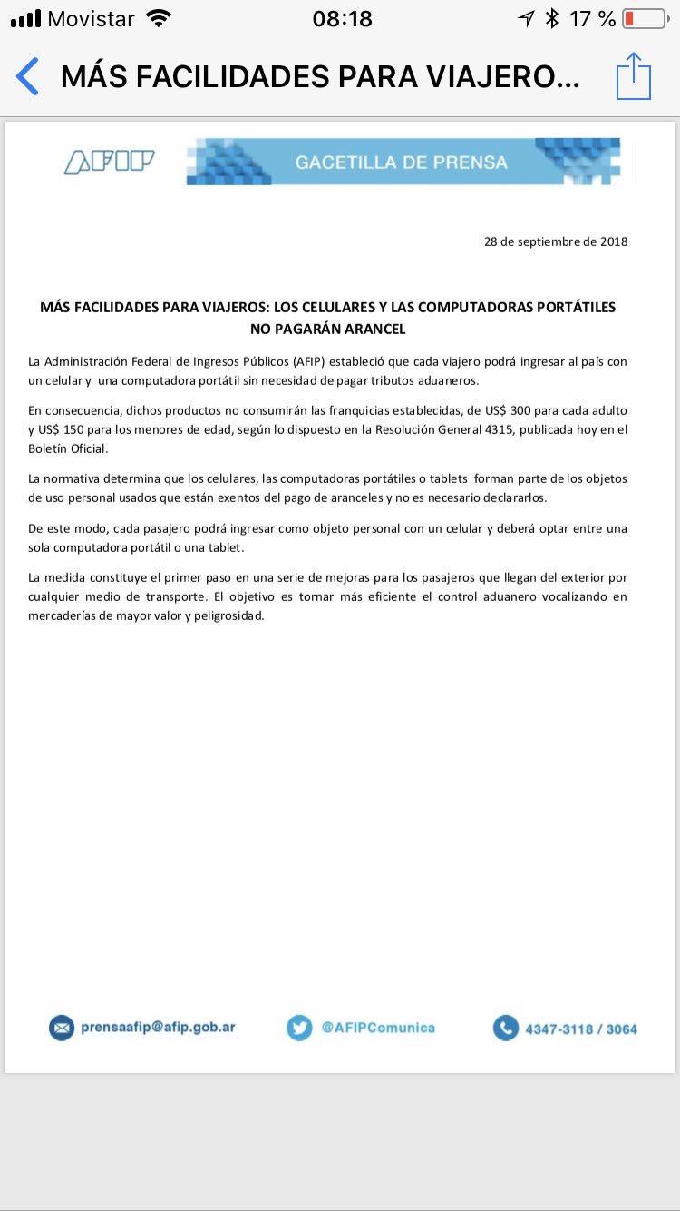 img 4172 - Cambios en la franquicia de Aduana en Argentina para viajeros