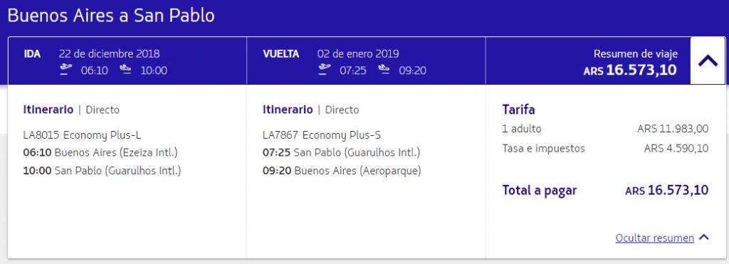 Vuelos tarifa Plus 1024x371 - LATAM pasa a cobrar el equipaje despachado en todas las rutas de America del Sur