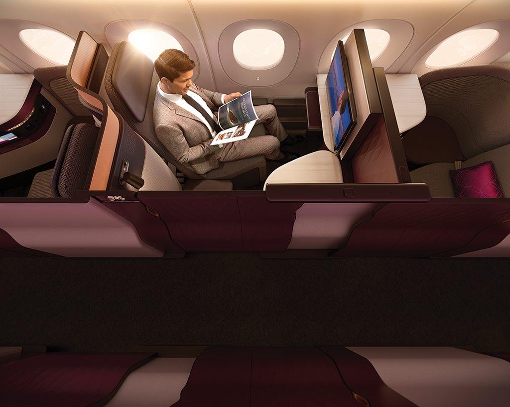 33276796836 2e0d6bfbd8 o 1024x817 - Qatar lanza una nueva cabina con cama matrimonial en sus vuelos desde Buenos Aires