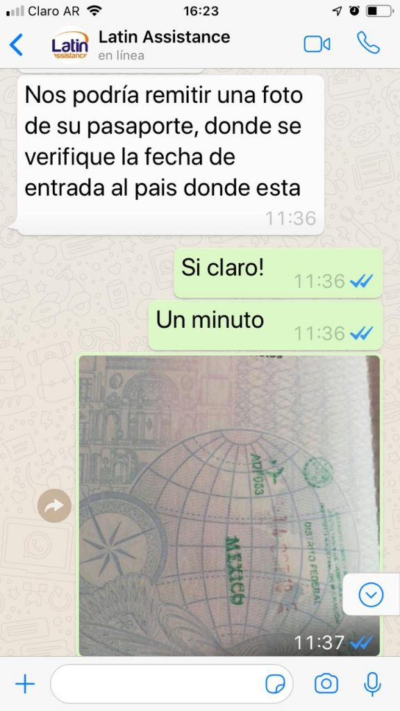 WhatsApp Image 2018 11 10 at 16.30.01 576x1024 - Utilizando la Asistencia al Viajero de LatinAssistance en Mexico DF