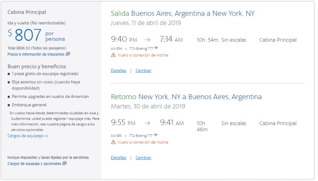American Tarifas NY 1024x584 - Volar en Premium Economy: ¿Qué es? ¿Vale la pena?
