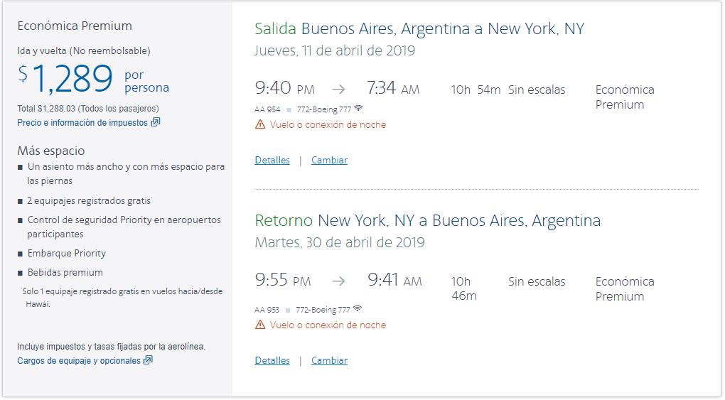 American Tarifas NY Premium - Volar en Premium Economy: ¿Qué es? ¿Vale la pena?