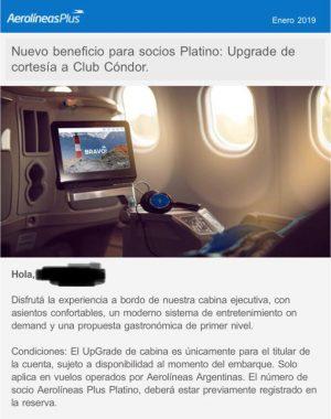 WhatsApp Image 2019 01 08 at 13.57.43 300x380 - Upgrade de cortesía en todos los vuelos de Aerolineas Argentinas para todos los socios Platino.