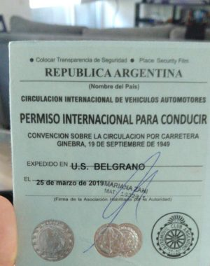 Licencia de Conducir Internacional 2019