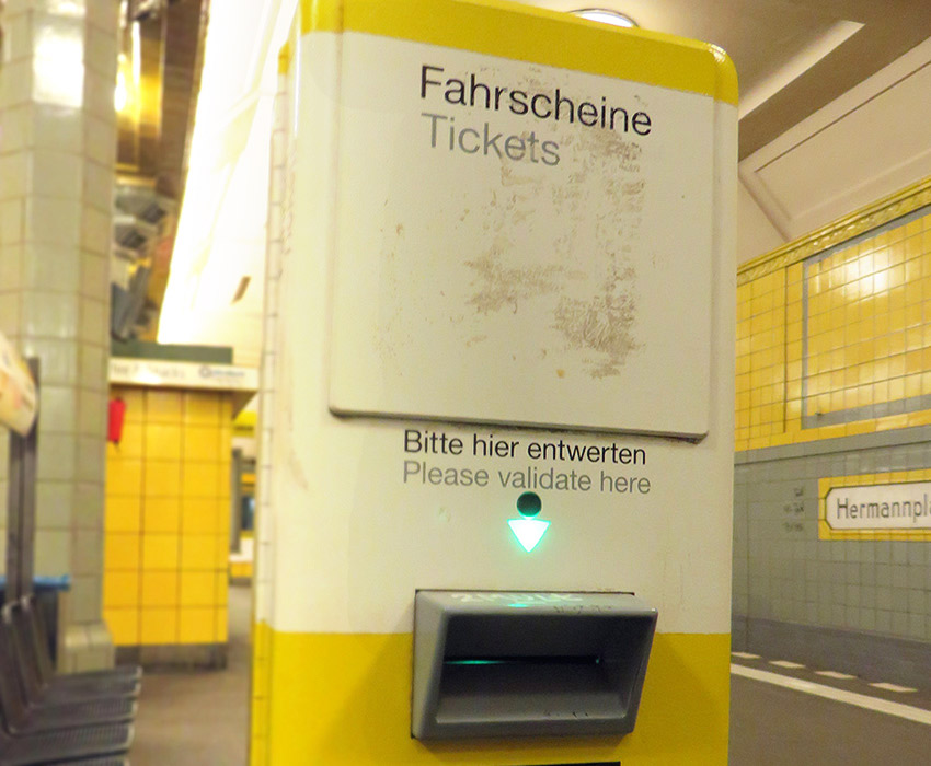 ticket validation berlin - Como moverse en Berlin