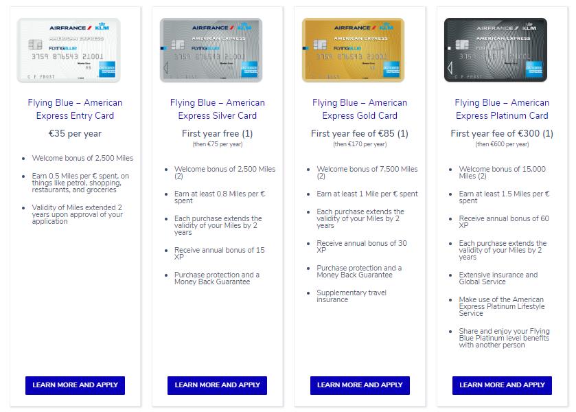 American Express Flying Blue - Acumular millas con bancos en Holanda
